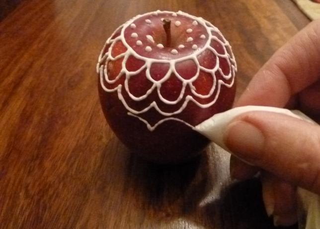 расписные яблочки